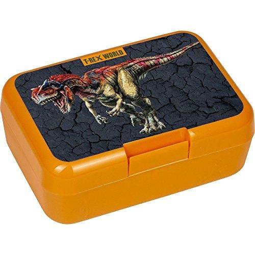 Lunchbox * T-REX * für Kinder von Spiegelburg | Brotdose ohne Name | Schule Vesperdose Brotzeitbox Brotzeit Dino Dinosaurier Jungen