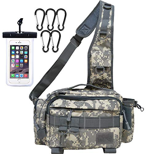 【nda-style】釣りバッグ フィッシングバッグ ショルダーバッグ 多機能 大容量 タックルバッグ ランガン (グレー)