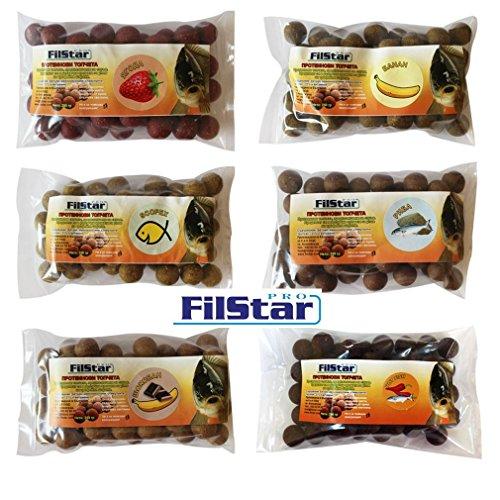 Filstar 250g Pro 18-20 mm Amino-und proteinhaltiger Boilie-Mix (18-20mm Schoklade Banane)