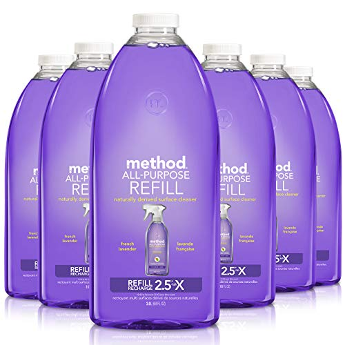Method All-Purpose Cleaner Refill, French Lavender,68 Fl Oz (Pack of 6)