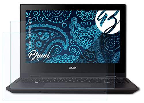 Bruni Schutzfolie kompatibel mit Acer TravelMate Spin B1 Folie, glasklare Displayschutzfolie (2X)