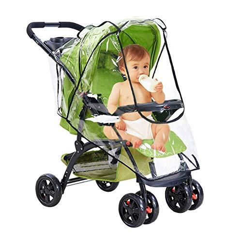 FOGAWA Universal Regenschutz Kinderwagen Regenverdeck für Buggy Sportwagen Gute Luftzirkulation mit Reißverschluss Sichtfenster Schadstofffrei für Sommer gegen Wind Regen Sonnenlicht