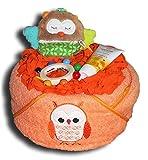 WindeltortenZauber - Pequeña torta de pañales con búho para niños o niñas,...