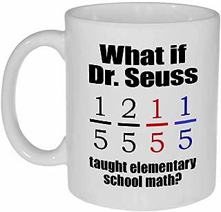 Dr Seuss Fish Math Coffee or Tea Mug