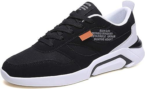 GAIQIN Chaussures de Sport Chaussures de Sport pour étudiants à la Mode en Toile Sauvage (Couleur   Noir, Taille   41)