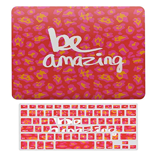 Plastic Hard Shell Case & Keyboard Cover Compatible with MacBook Air 13 Inch (Models: A1466, A1369), Be Amazing Laptop Keyboard Membrane Protective Shell Set