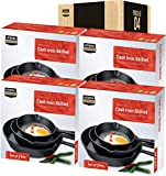 Utopia Kitchen Pre-Seasoned Cast Iron Skillet Set 3-Piece - 6 Inch, 8 Inch and 10 Inch (Bulk Pack of 4)