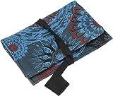GURU SHOP Sacchetto per Tabacco, Sacchetto per Tabacco Stampato, Sacchetto Rotante in Tessuto Stampato a Blocchi - Modello 1, Unisex - Adulti, Blu, Cotone, Size:One Size, 9,5x16x1 cm