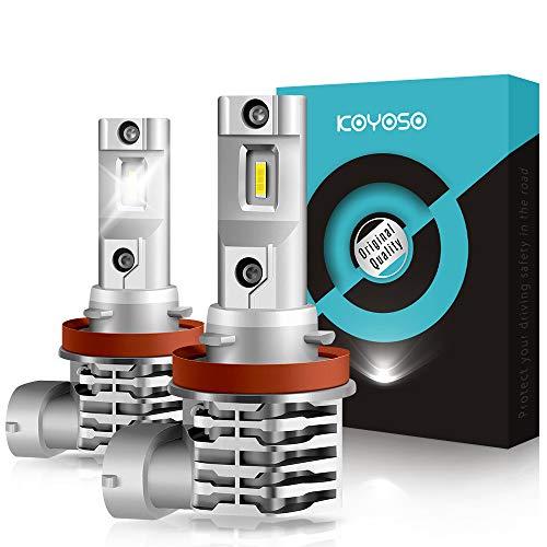 KOYOSO H11 LED Fendinebbia, H8/H9 Lampadine Luci Antinebbia 3000LM, 12V 6000K Bianco