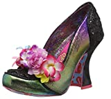 Irregular Choice Damen Desire Pumps, Schwarz Schwarz Blau C, 39 EU