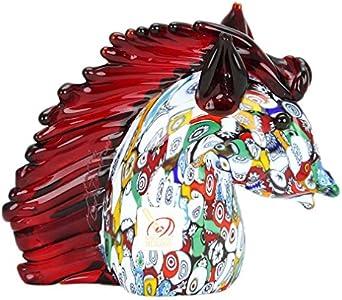 GlassOfVenice Cristal de Murano Millefiori Cabeza de caballo