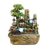 Fuente de cascada de escritorio Piedra Bonsai fuente de mesa,fuente de interior decorativo con el acuario fuente,donde la sala de estar,oficina,sala de té Adecuado para la fuente de interior portátil