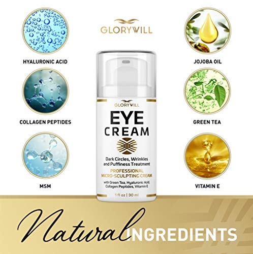 51PVr2fpc1L - Professional Eye Cream - Anti-Aging & Wrinkle Cream for Women & Men - Made in USA - Reduces Dark Circles, Under-Eye Bags & Puffiness - Eye Care with Hyaluronic Acid & Vitamin E (1 oz)