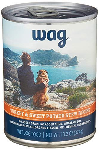 Amazon Brand - Wag Wet Canned Dog Food, Turkey &...