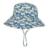 De verano para niños para niños sombreros de Sun con Protección UV UPF 50+ de ala ancha sombrero de la playa Pescador sombrero del sombrero del cubo para Bebés niñas de 6 meses-8 Años,D,S(46~50cm)