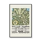 Carteles e impresiones de la exposición del Museo William Morris, estilo de arte subterráneo de Londres, pintura en lienzo sin marco familiar C 50x75cm