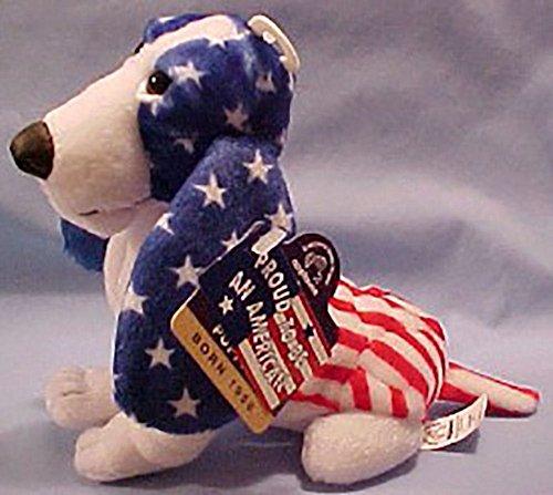Hush Puppies American Flag Beanie Basset Hound Dog Puppy USA Uncle Sam Americana