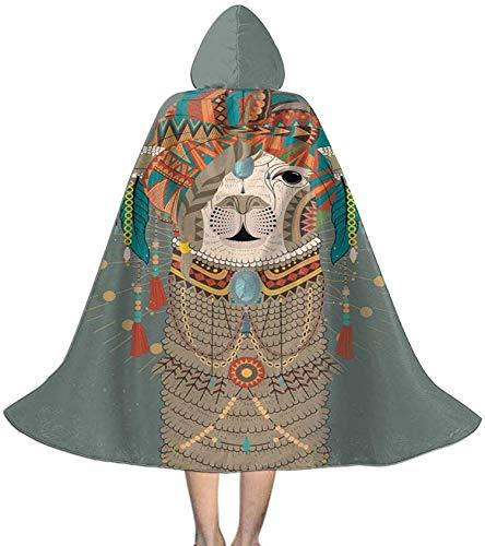 Romance-and-Beauty Nios Alpaca Llama Sombreros Coloridos Bruja de Halloween Capa con Capucha Capa Vampiros