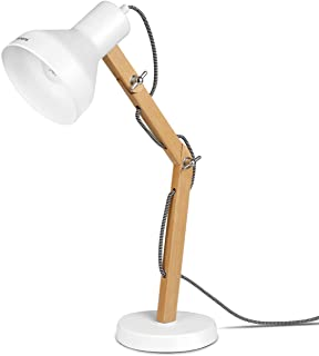 Tomons Lampe de Bureau en Bois, Lampe de Table, Ampoule LED Inclus, Lampes de Lecture, Décoration Design pour Bureau et Ta...