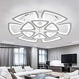 NZDY Moderna lámpara de techo con mando a distancia para dormitorio, dormitorio, moderna lámpara LED, lámpara de techo, lámpara de techo, lámpara de techo, blanco fresco, 10 cabezales, blanco