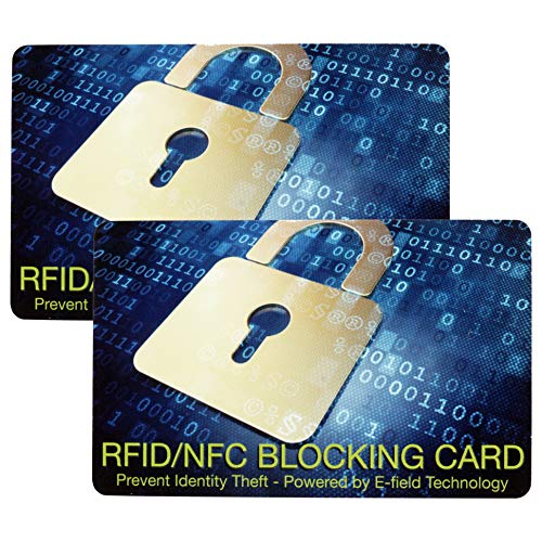 【2枚セット】 スキミング 防止 カード ICカード 防犯 クレジットカード IDカード 両面 磁気防止 磁気遮断 安心 安全 セキュリティ スキミング防止 防犯 (Bタイプ) PR-RFID2CARD-B
