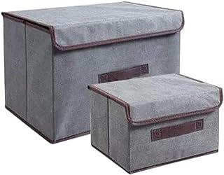 Boîtes à vêtements en set de 2 - sacs de rangement en 3 modèles (Gris)