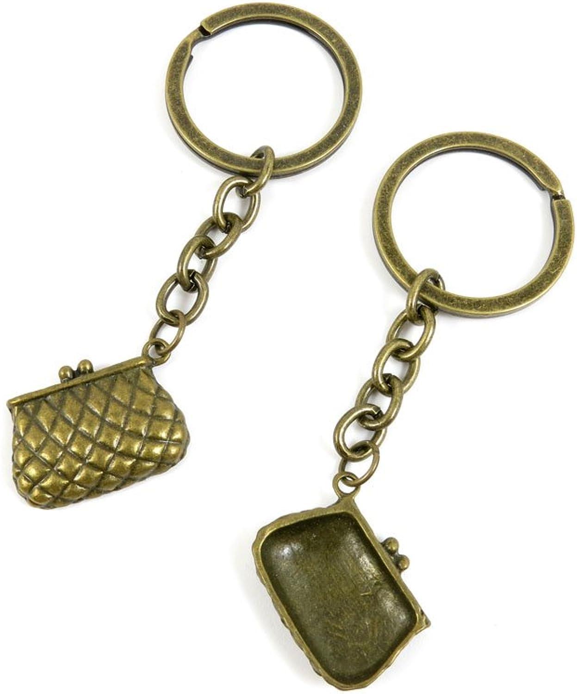 100 PCS Keyrings Keychains Key Ring Chains Tags Jewelry Findings Clasps Buckles Supplies O6YM2 Handbag
