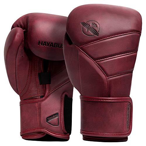 Hayabusa T3 LX Italian Leather Boxing Gloves for Men and Women - Crimson, 12 oz