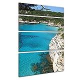 Bilderdepot24 Cuadros en Lienzo Menorca - 120 x 180 cm 4 Piezas - Listo tensa, Directamente Desde el Fabricante