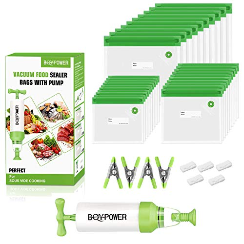 BQYPOWER Reusable Silicone Storage Bags