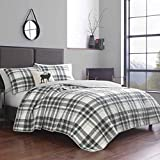 Eddie Bauer Home Coal Creek Plaid Quilt Set, Full/Queen, Chrome