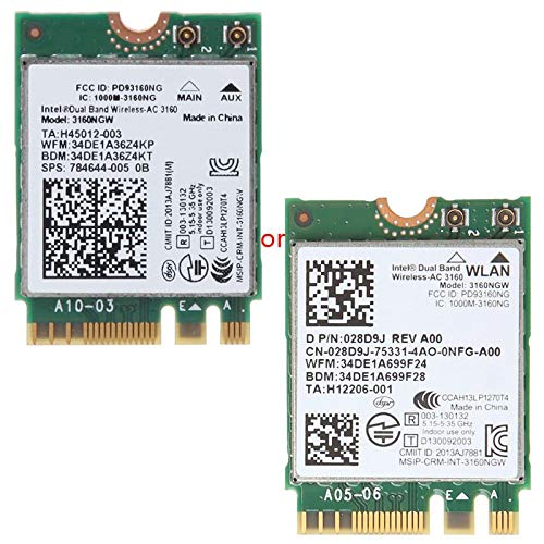 In-tel Wireless-AC 3160 3160NGW Dual Band Bluetooth 4.0 NGFF Wifi Card For DELL