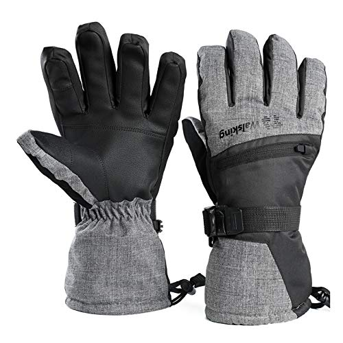 Walsking Ski Gloves Waterproof Breathable Snowboard Gloves,3M Thinsulate Winter Warm Cold Weather...