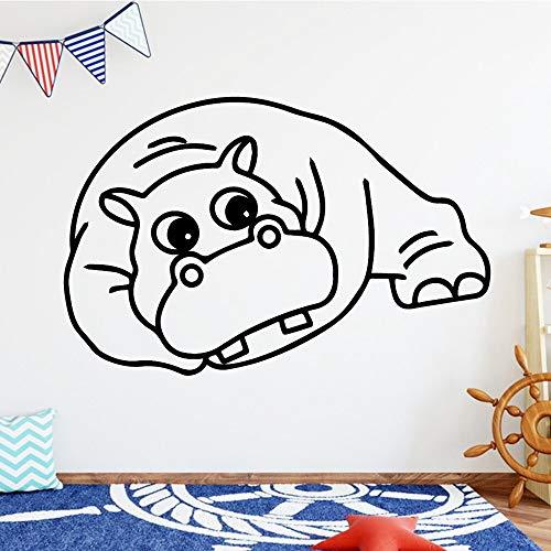 jtxqe Vaca De Dibujos Animados para El Fondo De Los Niños/Vinilo Infantil Pared DIY Wallpaper Pegatinas Pared Decorativas Salon 43X66Cm