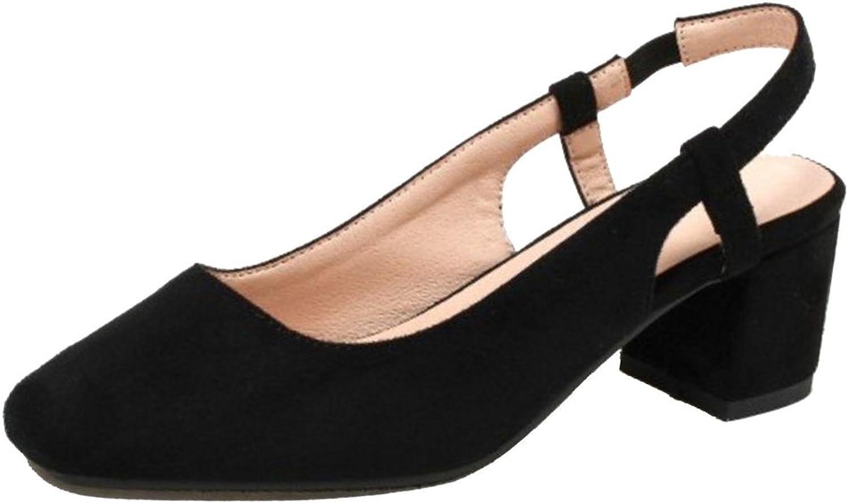 KemeKiss Women Square Toe Sandals Slingback