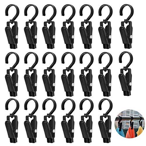 20 PCS Molletta Girevole a 360 °Appendiabiti Da Viaggio Porta Pantaloni Molletta Da Appendere In Plastica Mollette Appendiabiti Portatili Per Gli Asciugamani Indumento Lenzuola Tappeto Cappello Tenda