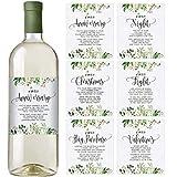 Greenery Hochzeit First Weinflaschenetiketten Set mit 6 Etiketten - Hochzeitsgeschenk, Hochzeitsmeilensteine, Hochzeit