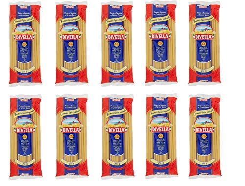 10x Pasta Divella 100% Italienisch Ziti N° 2 Kochen 8 Minuten 500g