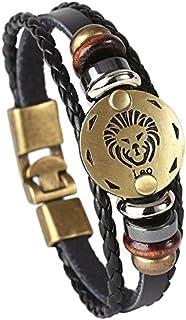 Hamoery Punk Alloy Leather Bracelet for Constellation...