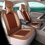 Unbekannt Autositzbezug Kissen Rückenstütze Taille Massage Sommer Kühlen Bambusmatte Bambus Pad Cool Pad,A