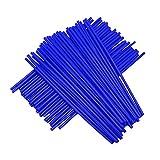 72pcs / Lot Fundas de radios Azules Cubiertas Motocicleta de Universal MX Enduro Fuera de la llanta de la Rueda envuelven envueltas Cubiertas de Pieles para 19'-21' Llantas Yamaha YZ WR DT TC WR FE