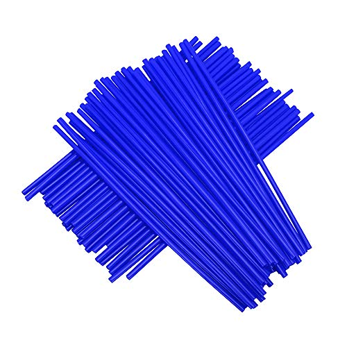 "72pcs / Lot Fundas de radios Azules Cubiertas Motocicleta de Universal MX Enduro Fuera de la llanta de la Rueda envuelven envueltas Cubiertas de Pieles para 19\""-21\"" Llantas Yamaha YZ WR DT TC WR FE"