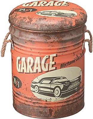 ペール缶スツール(収納付きスツール) スチール (インテリア家具) JAM-231A dS-1386548