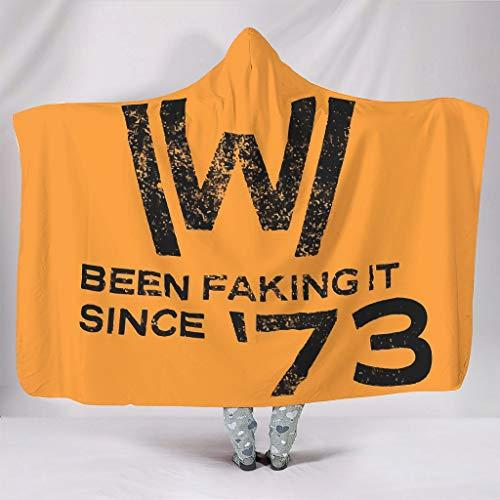 Fineiwillgo West-World Faking It - Manta con capucha para sofá o sillón (150 x 200 cm), color blanco