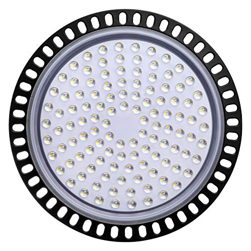 LED Lámpara de Alta Bahía, Sararoom 500W Lámpara Industrial Ultra Delgada, 40000LM UFO Iluminación LED Alta, 6500K Blanco Frío Foco Proyector Led, para Aeropuerto Almacén Fábrica Sótano
