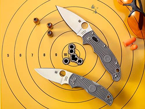 "Spyderco Manix 2 Lightweight Signature Folding Knife with 3.37"" CTS BD1 Black Steel Blade and Black FRCP Handle - PlainEdge - C101PBBK2"