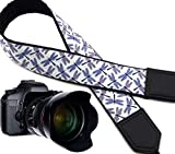 Camera Strap Dragonflies. Flying adders on White DSLR/SLR Camera Strap. Photography Accessories by InTePro.