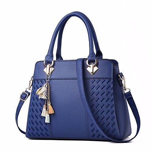 djbnnbbxyl Bolsos de diseñador de Las señoras Bolso Tote Bag Bolsas de Hombro,Azul Marino