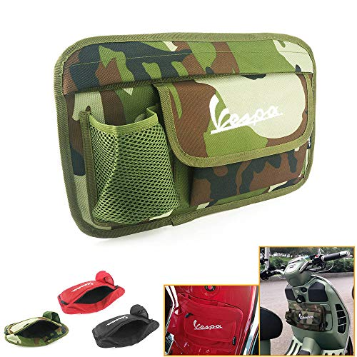 Motorcycle saddlebags Motorcycle Saddle Luggage bags Storage bag Decorate Glove Case Box for Vespa GTS LX LXV Sprint Primavera 50 125 250 300 300ie 250ie motorcycle accessories (Amouflage green)