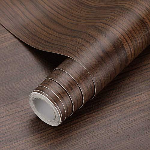 KINLO Holztapete Klebefolie Selbstklebende Folie Wandtapete Naturholz Möbelfolie Dekorfolie 0.61 * 5M Tapeten Wandaufkleber aus PVC 0.61 * 5M